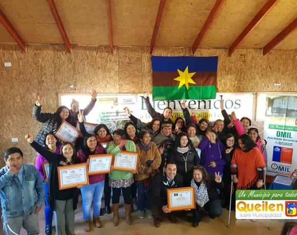 Municipalidad de Queilen capacitó en repostería a mujeres de la comunidad Cavi Huilliche Paillin de Lelbun.