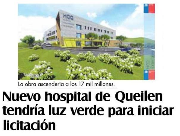 Nuevo hospital de Queilen tendría luz verde para iniciar licitación