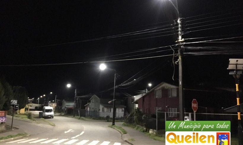 Con modernas luminarias led contarán zonas rurales de Queilen