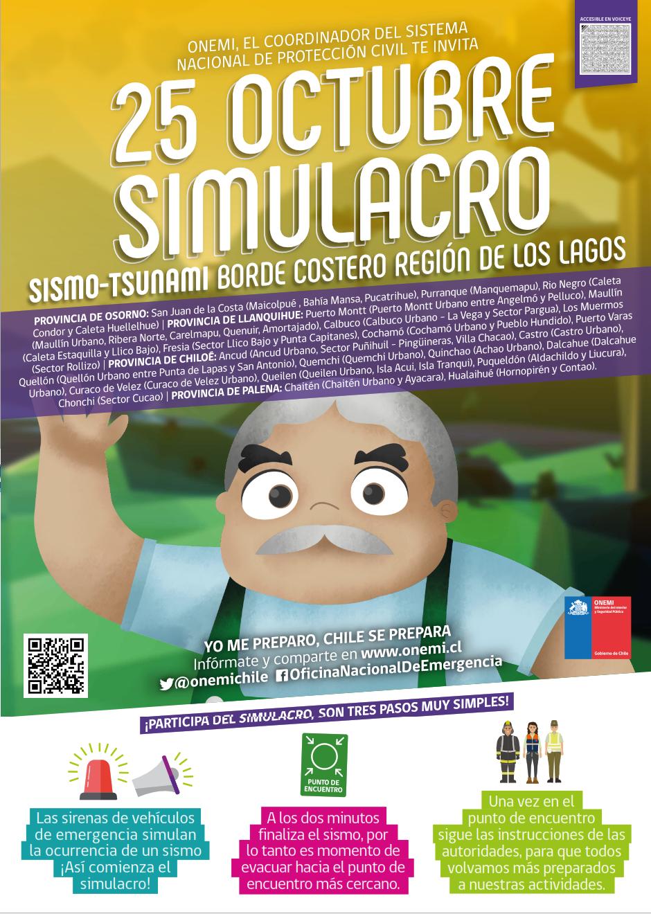 SIMULACRO REGIONAL BORDE COSTERO 25 DE OCTUBRE DE 2018