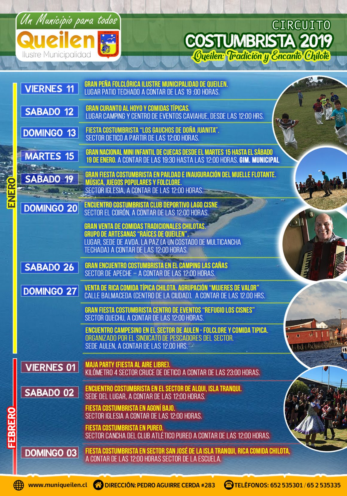 CIRCUITO COSTUMBRISTA 2019, QUEILEN TRADICIÓN Y ENCANTO CHILOTE