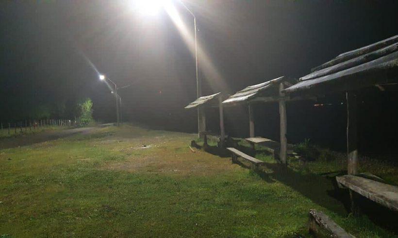 Recambio a modernas luminarias led en sectores rurales de Queilen